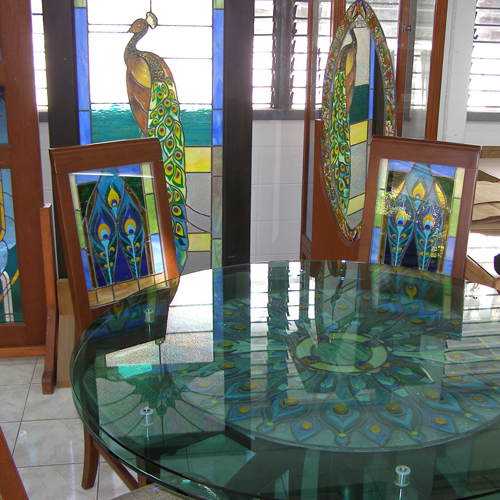 thailand handmade glass stained chairs