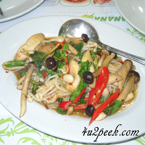 veg food bangkok thailand assorted mushrooms